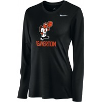 Beaverton Youth Basketball 25: Nike Women's Legend Long-Sleeve Training Top - Black
